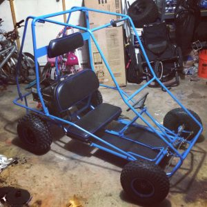 blue manco go kart model 485 with led headlight
