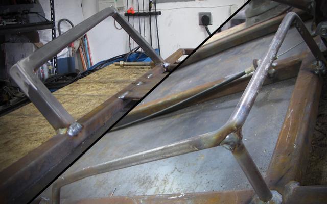 go kart side rails and foot rest