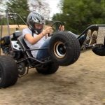 go kart wheelie