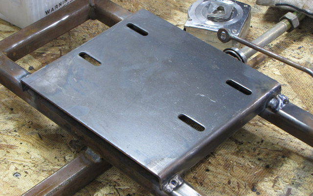 go kart engine mounting plate