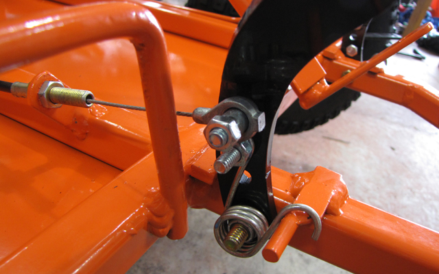 go kart throttle cable setup