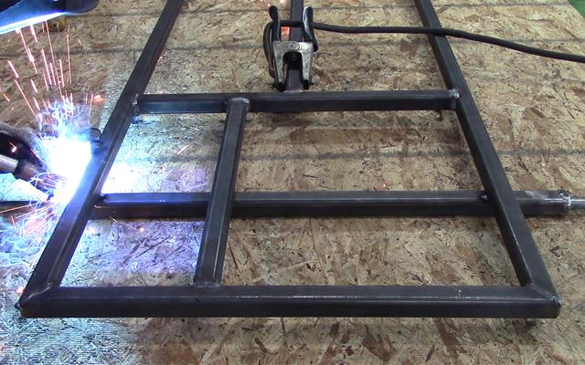 weld go kart axle