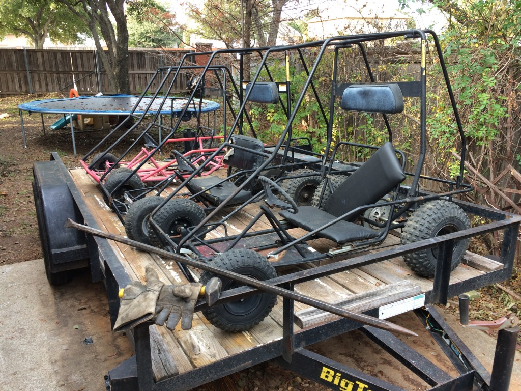 Three 2 Seat Manco Go Karts For Kids Just In Time For