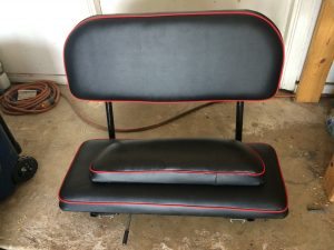Go Kart Seat, Red and Black