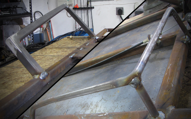 go kart side rails and foot rest