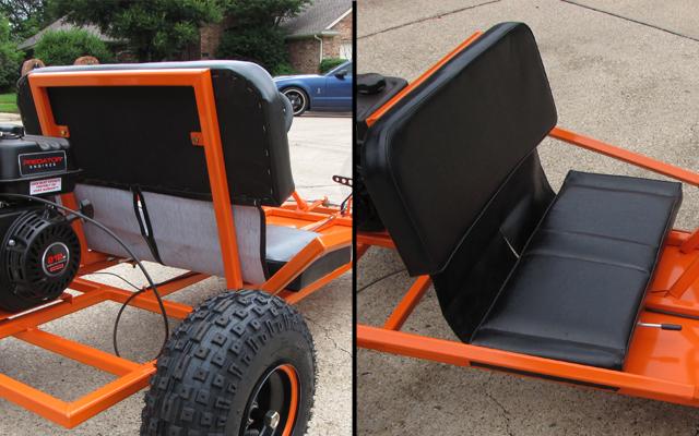 go kart bench seat