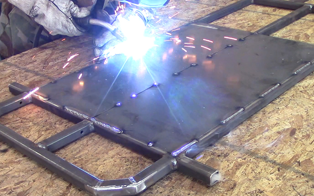 welding a go kart floor pan