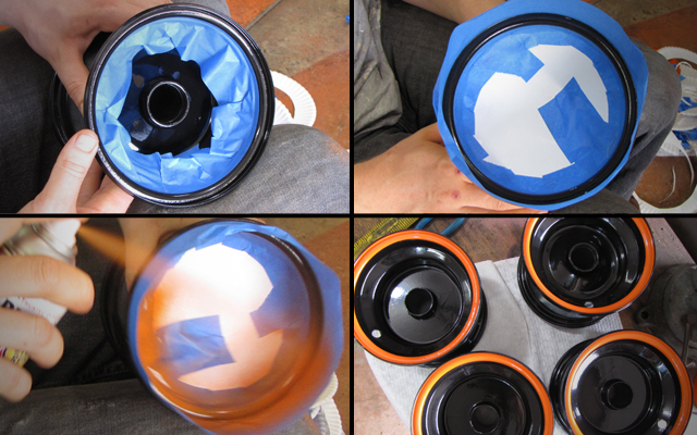 how to paint go kart rims
