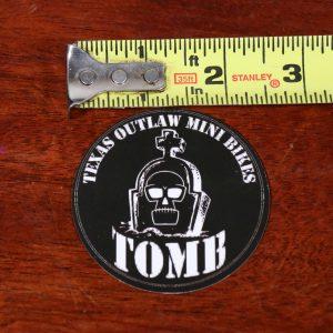 engine recoil decal sticker texas outlaw mini bikes black