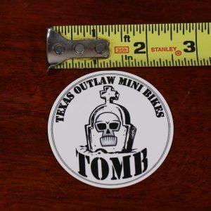 engine recoil decal sticker texas outlaw mini bikes white