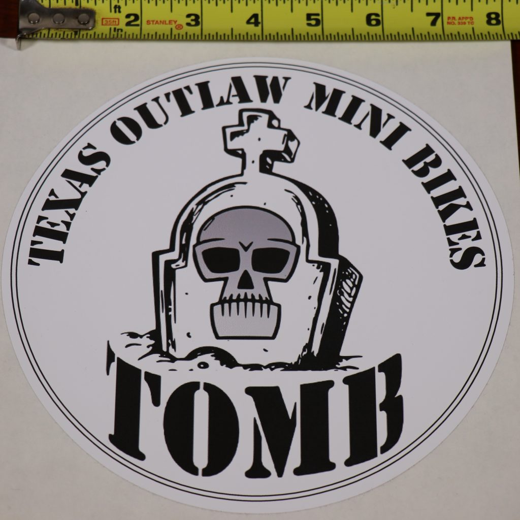 Vinyl Decal Sticker Official Texas Outlaw Mini Bikes
