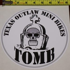 "8"" vinyl decal sticker texas outlaw mini bikes"
