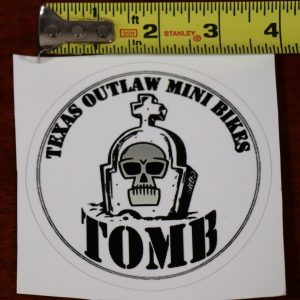 "4"" vinyl decal sticker texas outlaw mini bikes"