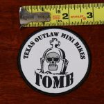 Texas Outlaw Mini Bikes Logo Sew On Patch