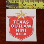 star and shield vinyl decal sticker texas outlaw mini bikes