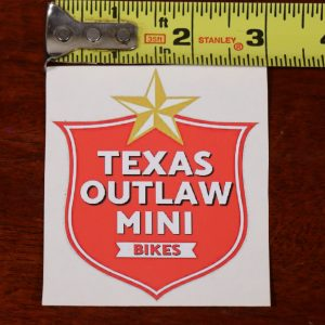 star and shield vinyl decal sticker texas outlaw mini bikes