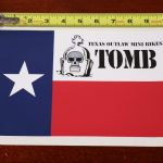 "10"" vinyl decal sticker texas outlaw mini bikes flag"